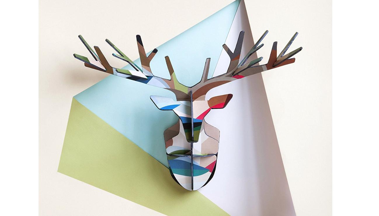 Cabezas de ciervo de cart n de pared para decoraci n lovetendencias - Cabeza ciervo carton ...